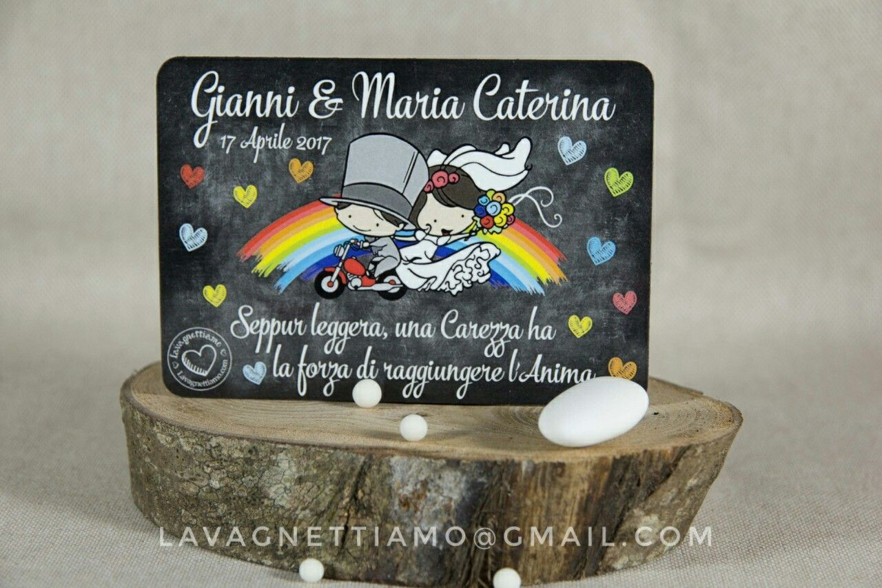 Partecipazioni magnetiche - invito matrimonio ed eventi