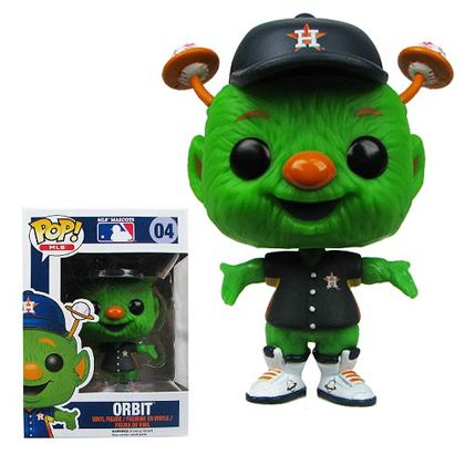 No self-respecting Houston Astros fan would deny him or herself this fantastic Major League Baseball Orbit Houston Astros Pop! Vinyl Figure! Whether you want to keep it in your jacket for good luck as take in a game at the Great American Ball Park or you'd rather prop Orbit up on your desk at work to show a little pride, you'll love just how useful this guy can be.