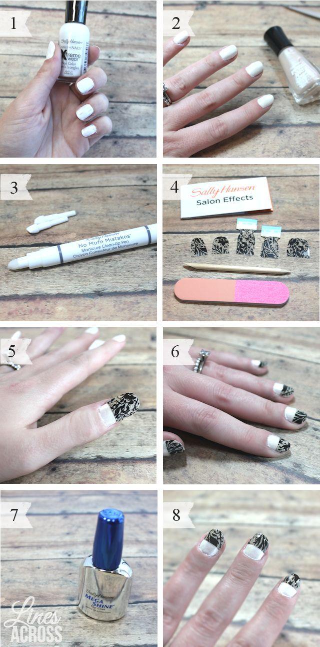Nail Art Tutorial for Lace Nails #cbias #iluvnailart | Moms DIY Spa ...