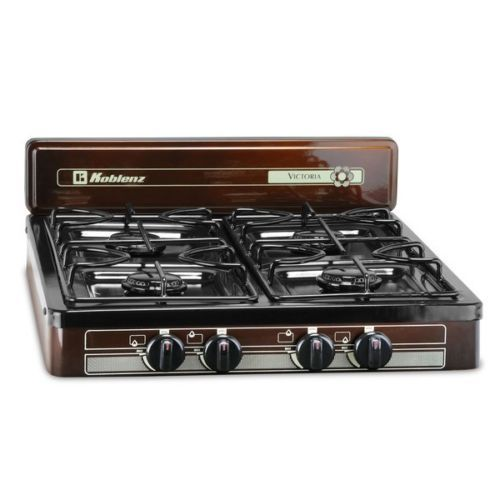 Outdoor Gas Stove Portable Travel 4 Burner Camping Cooking Cooktop Table Top