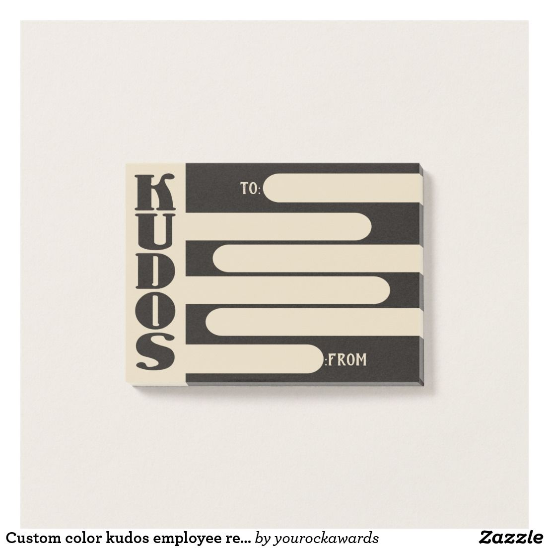 Custom Color Kudos Employee Recognition Post Its Post It