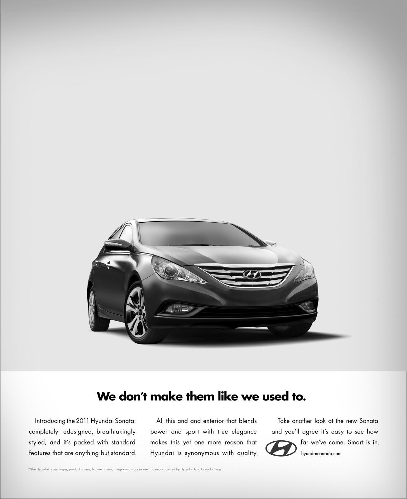 Hyundai Print Advert By Innocean We Don T Make Them Like We Used To Do Ads Of The World Print Ads Hyundai Car Ads