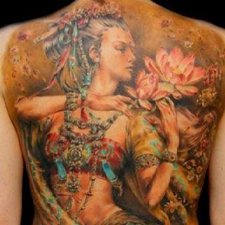 Full back tattoo...