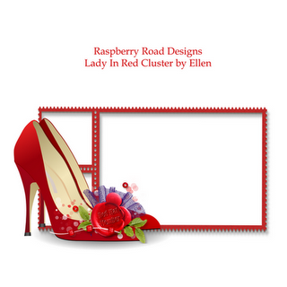 free digi scrapbook frame cluster Lady in Red Heels - not sure when I'll need this one, but have a feeling I'll regret it if I don't save it! haha