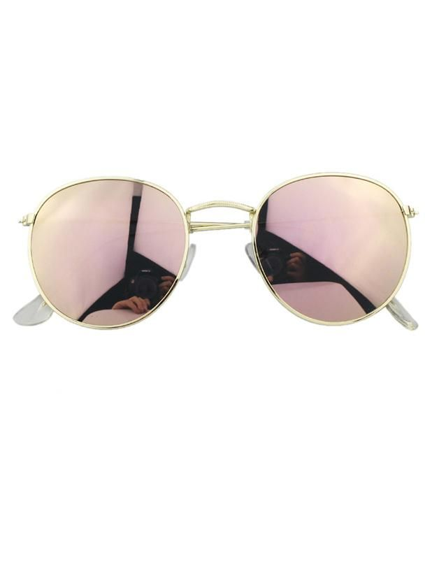 bd101b789ba9 SheIn offers Mirrored Metal Frame Sunglasses   more to fit your fashionable  needs.