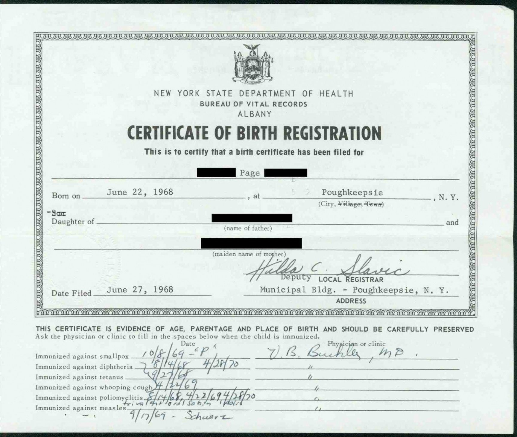The Terrific Printable Sensational Official Birth Certificate
