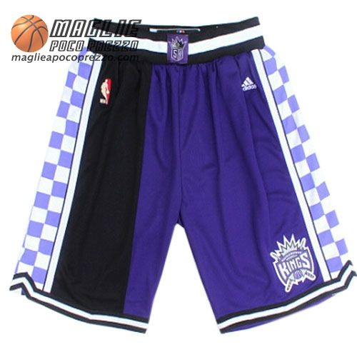 best value low price 50% price Pantaloncini nba porpora nero Diviso Sacramento Kings ...
