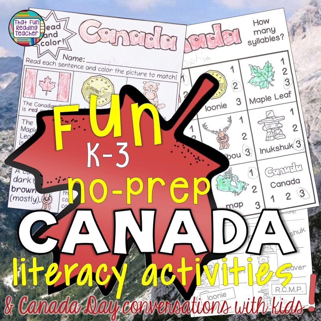 Fun Noprep Canada Literacy Activities Amp Canada Day