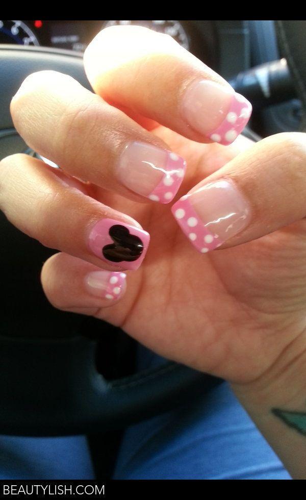 Minnie Mouse Nails   Uñas Moty   Pinterest   Diseños de uñas, Negro ...