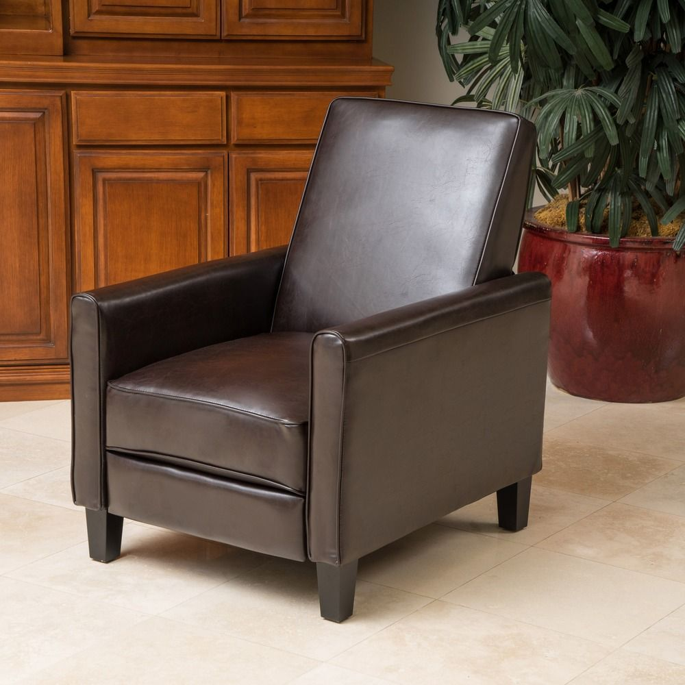 christopher knight home leather recliner club chair - overstock