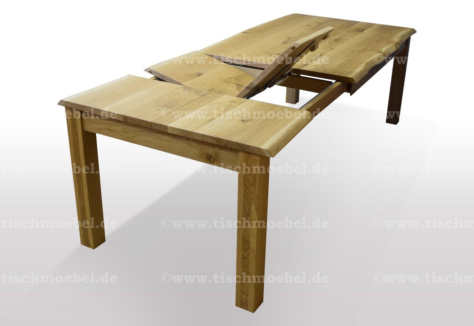 Baumtisch mit Kopfkulissenauszug und Butterfly Klappeinlagen