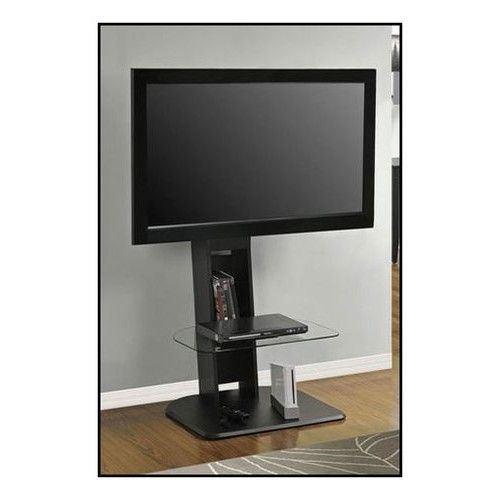 Altra Furniture Galaxy Tv Stand With Mount For Flat Panel Tvs Up To 50 Black Larger Front Tv Stand With Mount Small Tv Stand Cool Tv Stands