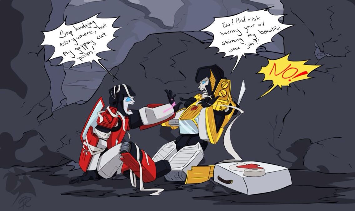 First Aid kit problems with Sideswipe and Sunstreaker