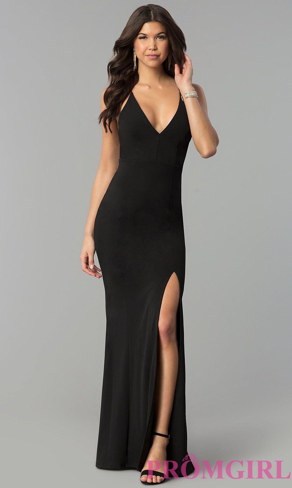 Black Graceful Backless Evening Dress | Backless evening