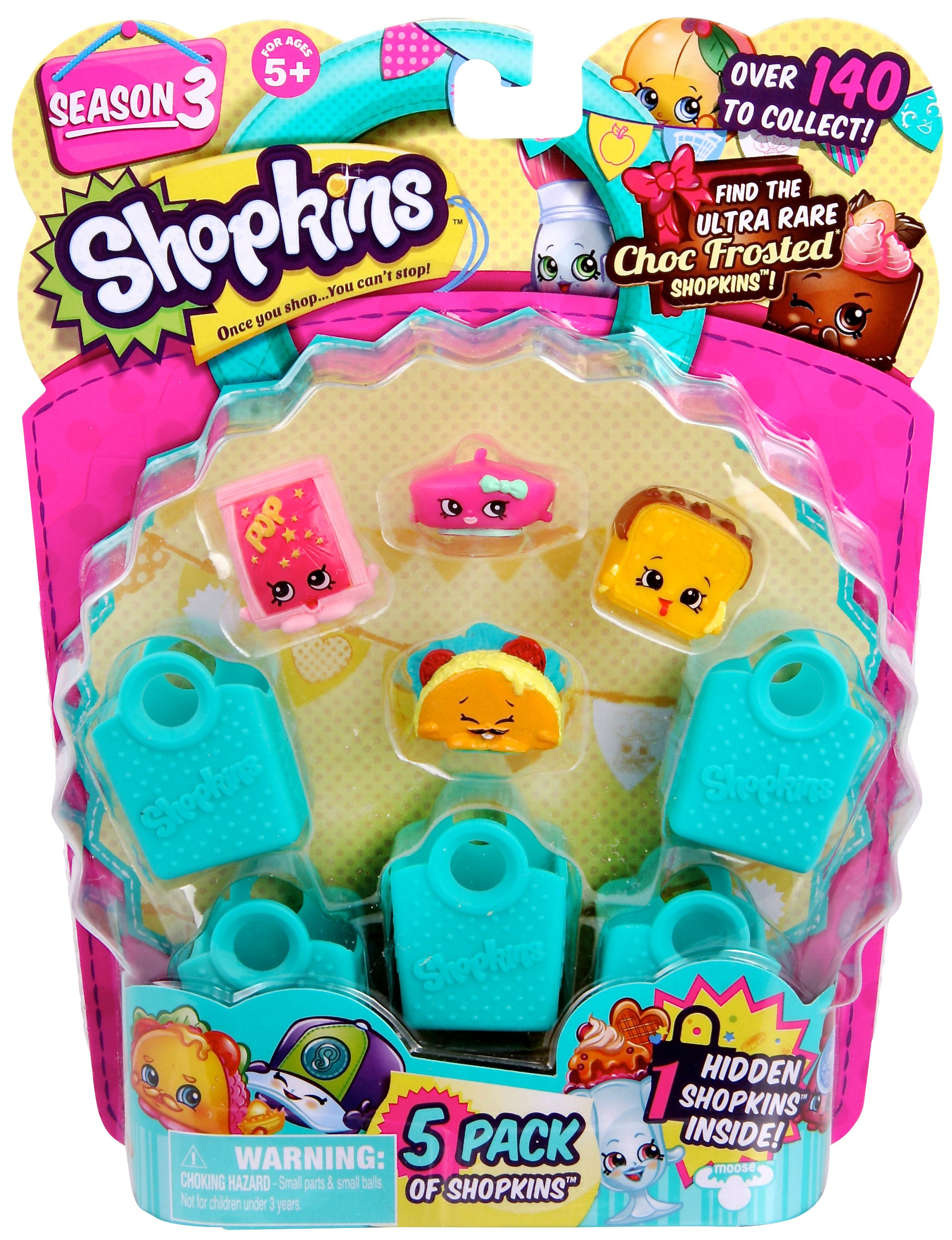 SHOPKINS 5 PACK S3 - Planet Fun. Increase your chances of finding a rare Shopkin or just adding to your colelction with this awesome Shopkins Season three 5 pack!