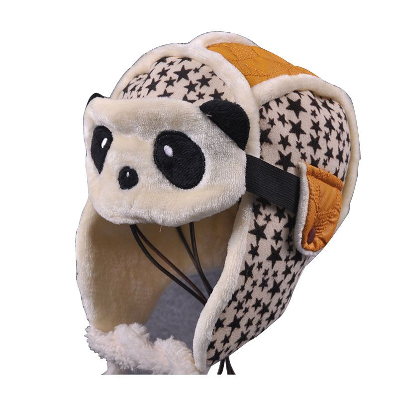 >> Click to Buy << Children's High Quality Winter Hats For Boys And Girls With Velvet Thick Warm Baby Cartoon Panda Caps dual ear masks Bomber Hats #Affiliate
