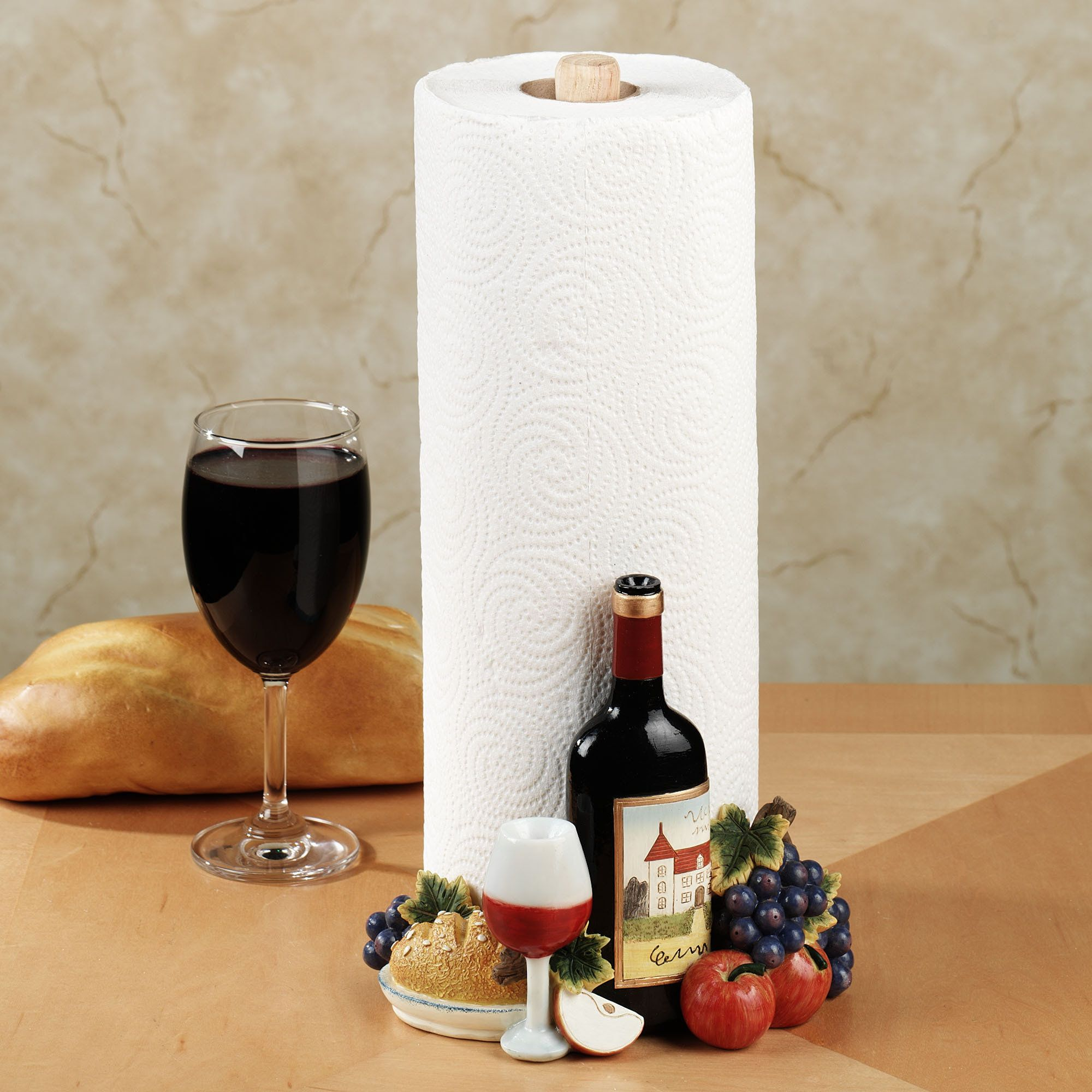 Tuscany Paper Towel Holder Yes Please Wine