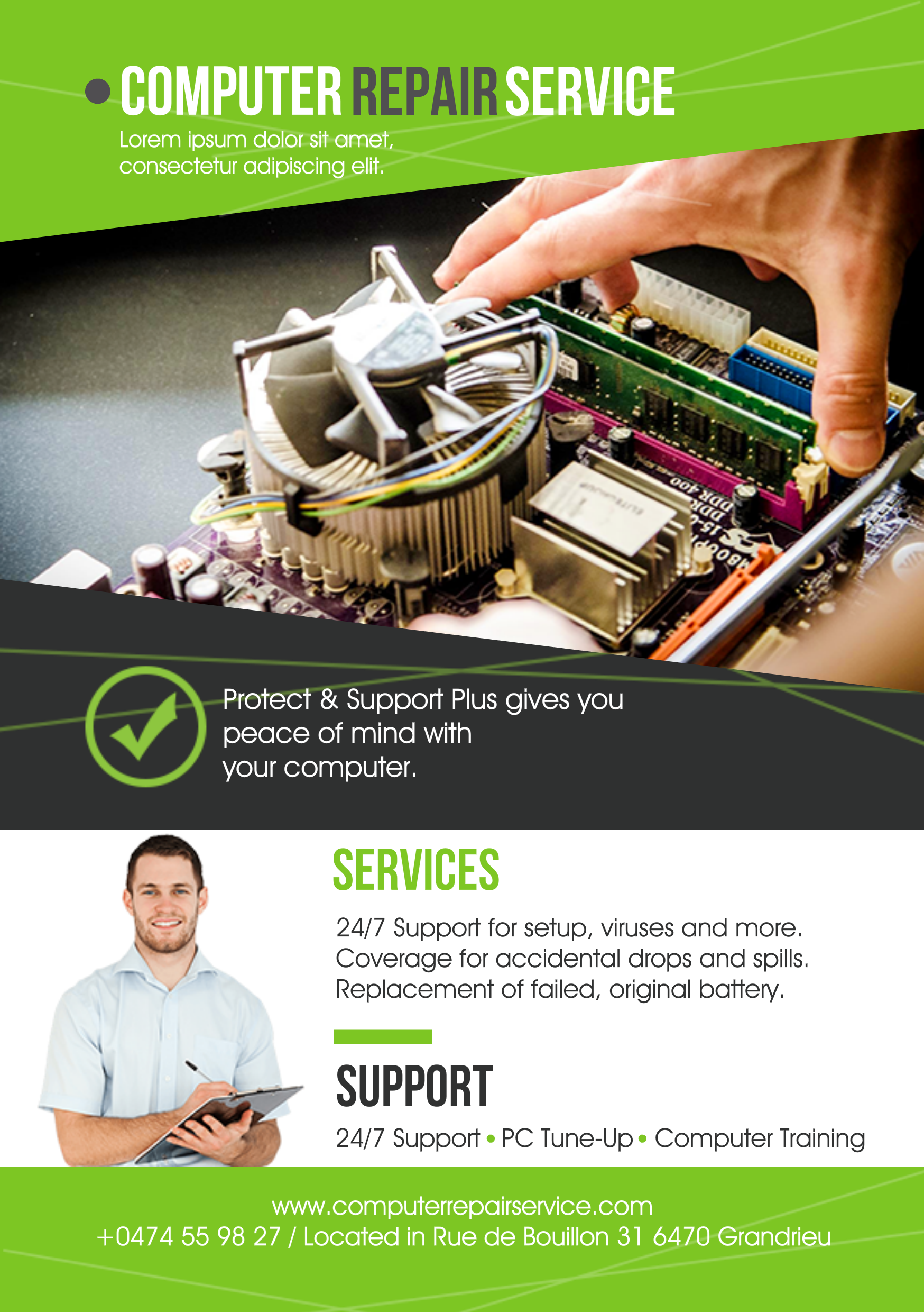 Computer repair A5 promotional flyerpremadevideosa5 – Promotional Flyer Template