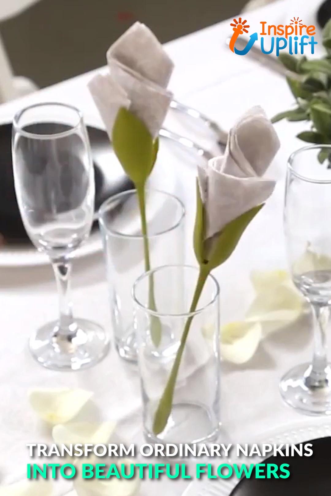 Flower Napkin Holders Video Napkin Holder Napkins Napkin Folding