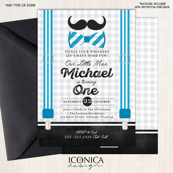 Little Man First Birthday Invitation Mustache Birthday Bowtie Party Any Age Printed Or Printable File Free Shipping Ibd0018 First Birthday Invitations Birthday Invitations First Birthdays