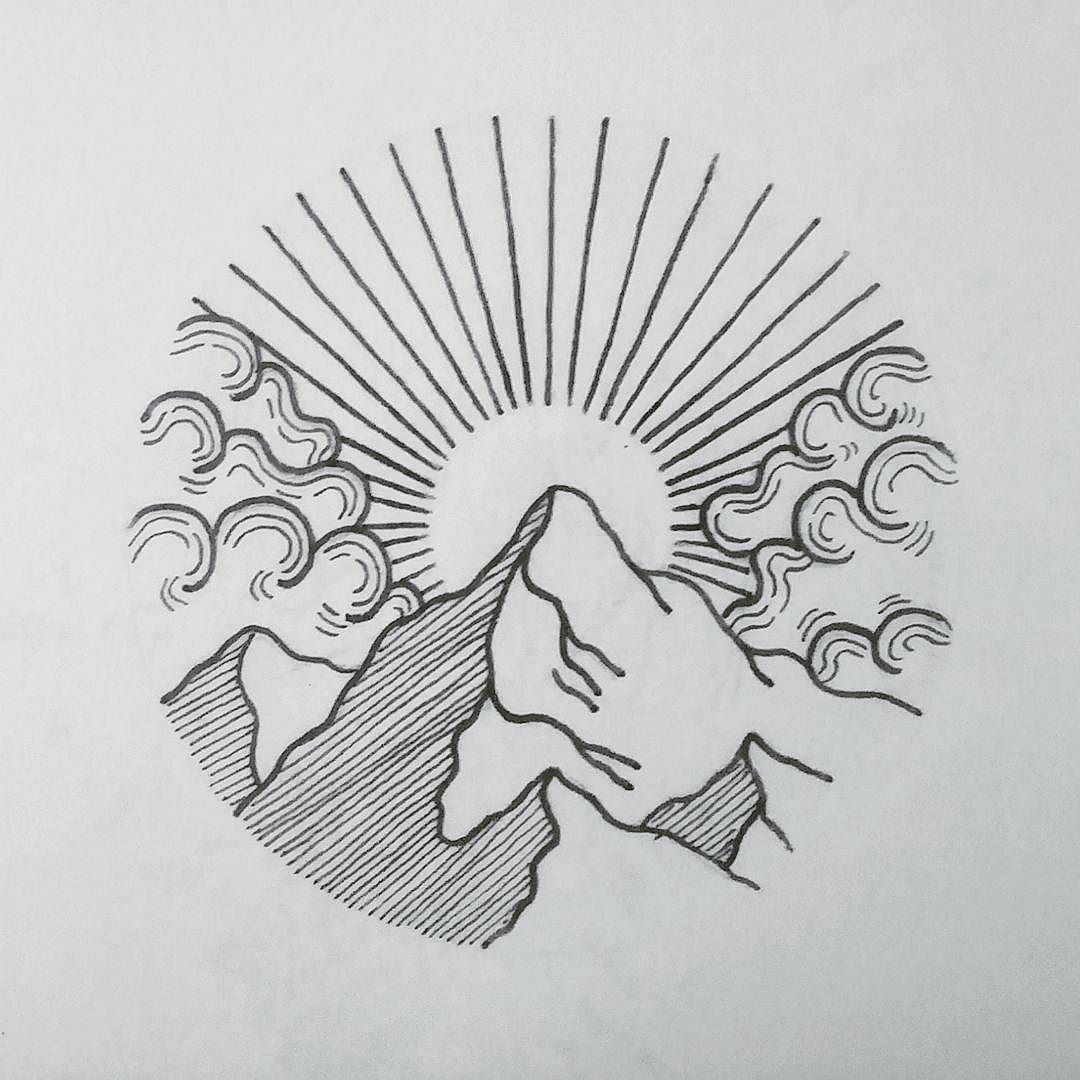 I like the shading and shape of this mountain | Sunset ...