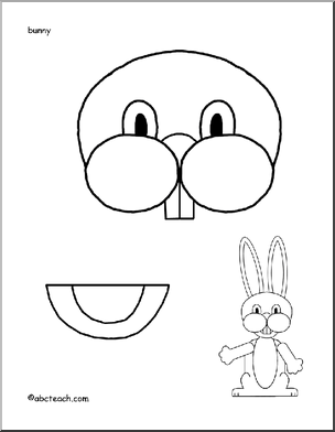Easter Bunny Paper Bag Puppet, could use just for the