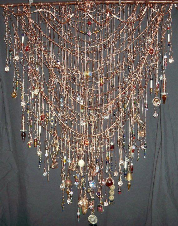wire curtain crafts pinterest. Black Bedroom Furniture Sets. Home Design Ideas
