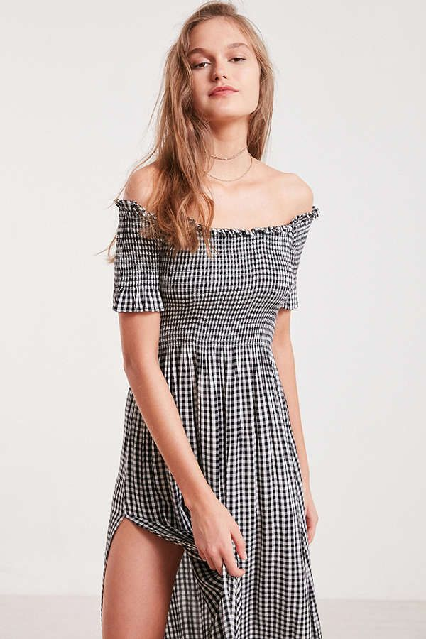 61b28f390 Kimchi Blue Off-The-Shoulder Smocked Dress | Urban Outfitters - *the ...