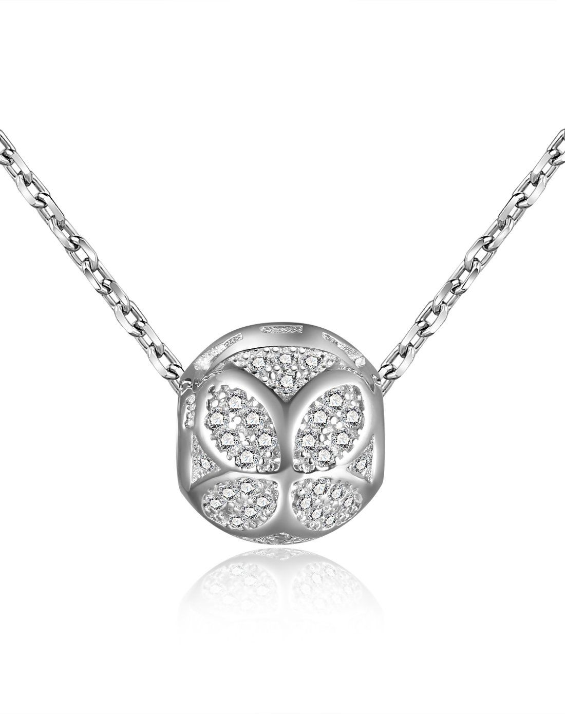 Adorewe vipme necklaces ching ying silver full zircon lucky