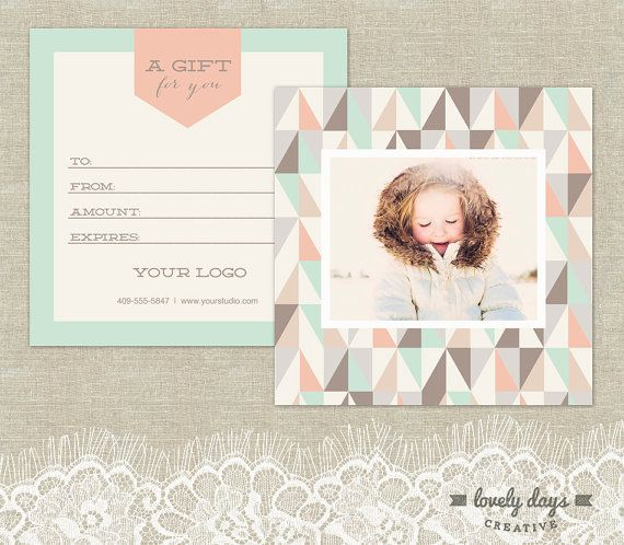 Photography Gift Certificate Templates set by LovelyDaysCreative - best of photographer gift certificate template