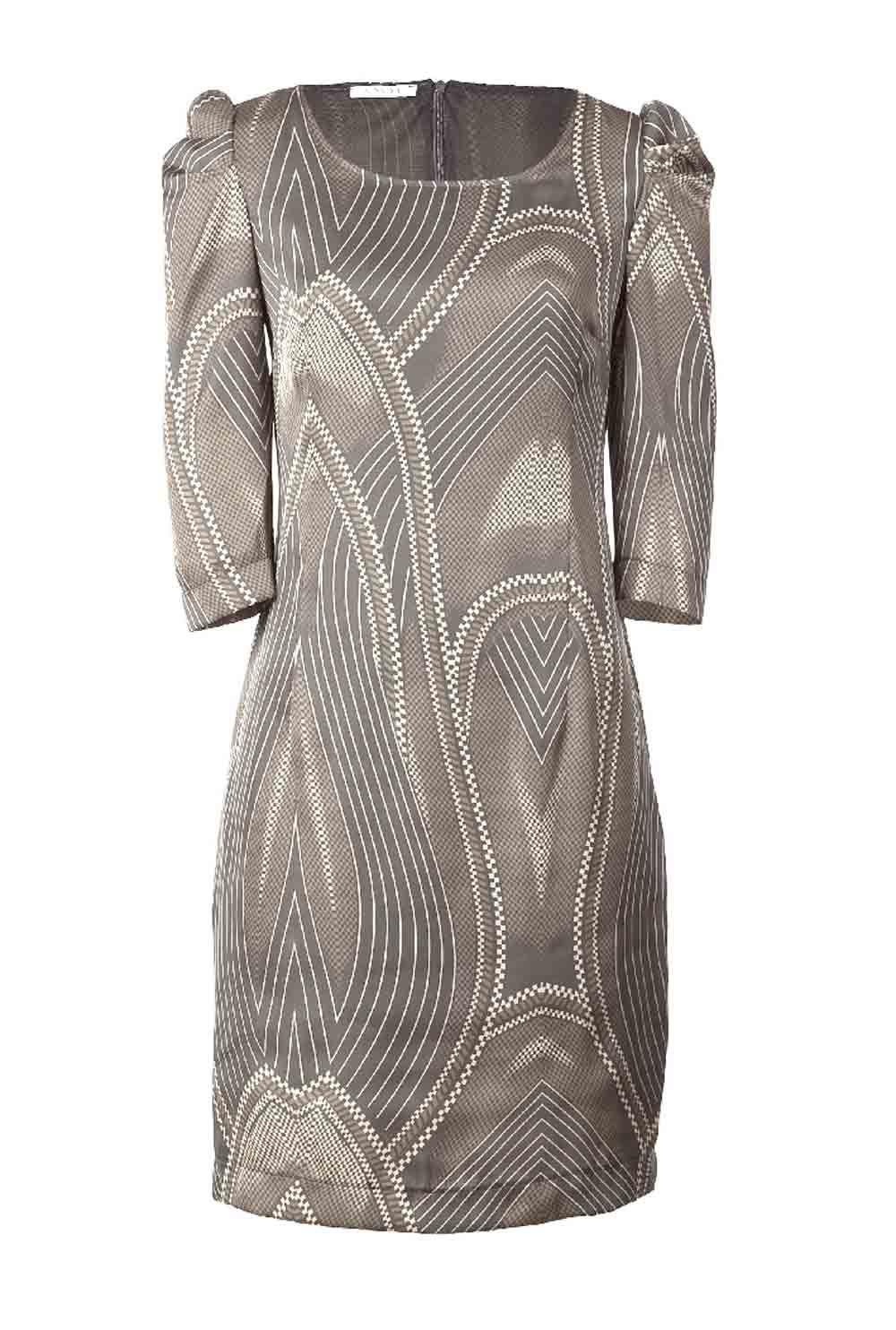 Satinkleid Grau Taupe Von Apart In 2020 Satinkleid Kleider Etuikleid