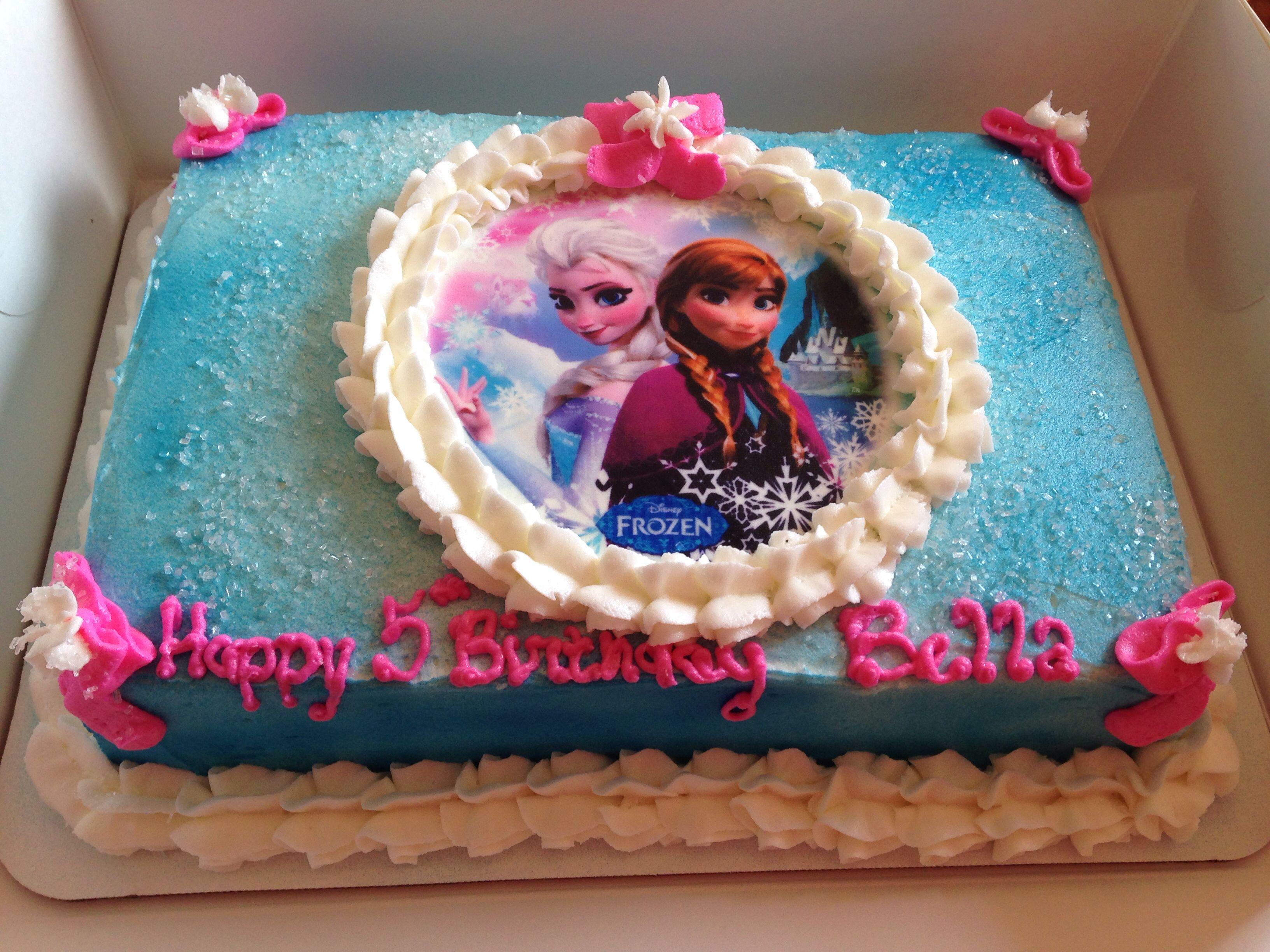 Edible Frozen Image 1 4 Sheet Cake Airbrushed Buttercream Cake