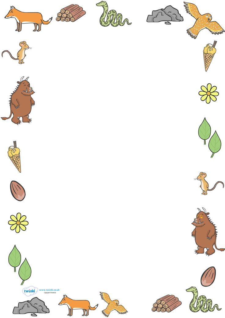 Twinkl Resources The Gruffalo Full Page Borders Thousands Of