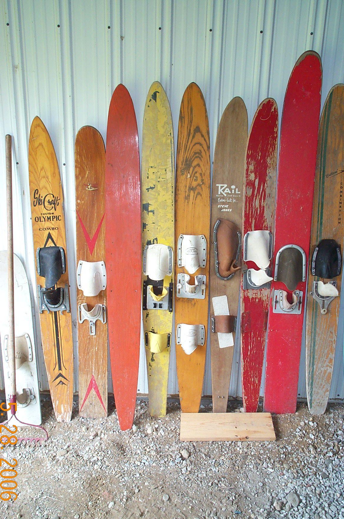 Vintage Wooden Water Skis 46