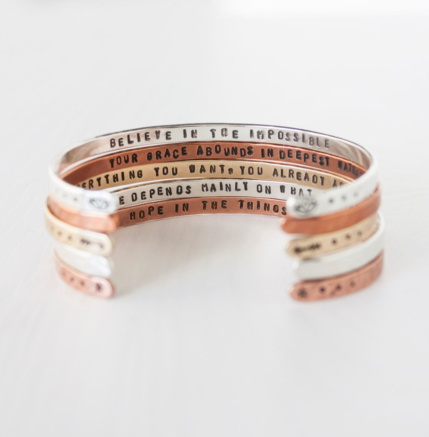 il listing inspirational quote stamped fullxfull message wrap zoom motivational bracelet