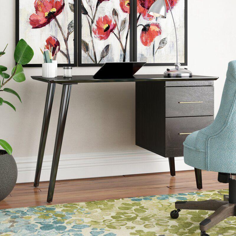 Beckley Mid Century Writing Desk In 2020 Mid Century Writing Desk Mid Century Modern House Mid Century Desk