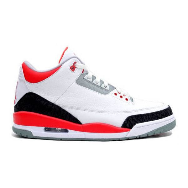 Air Jordan III 'Fire Red' Confirmed for 2011 ❤ liked on Polyvore featuring shoes, jordans and sneakers