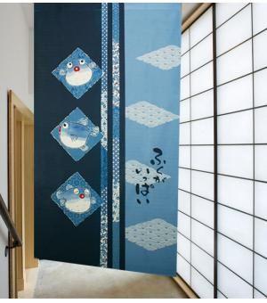 JAPANESE NOREEN   New Japanese Lovely Blowfish Door Curtain Noren D3048