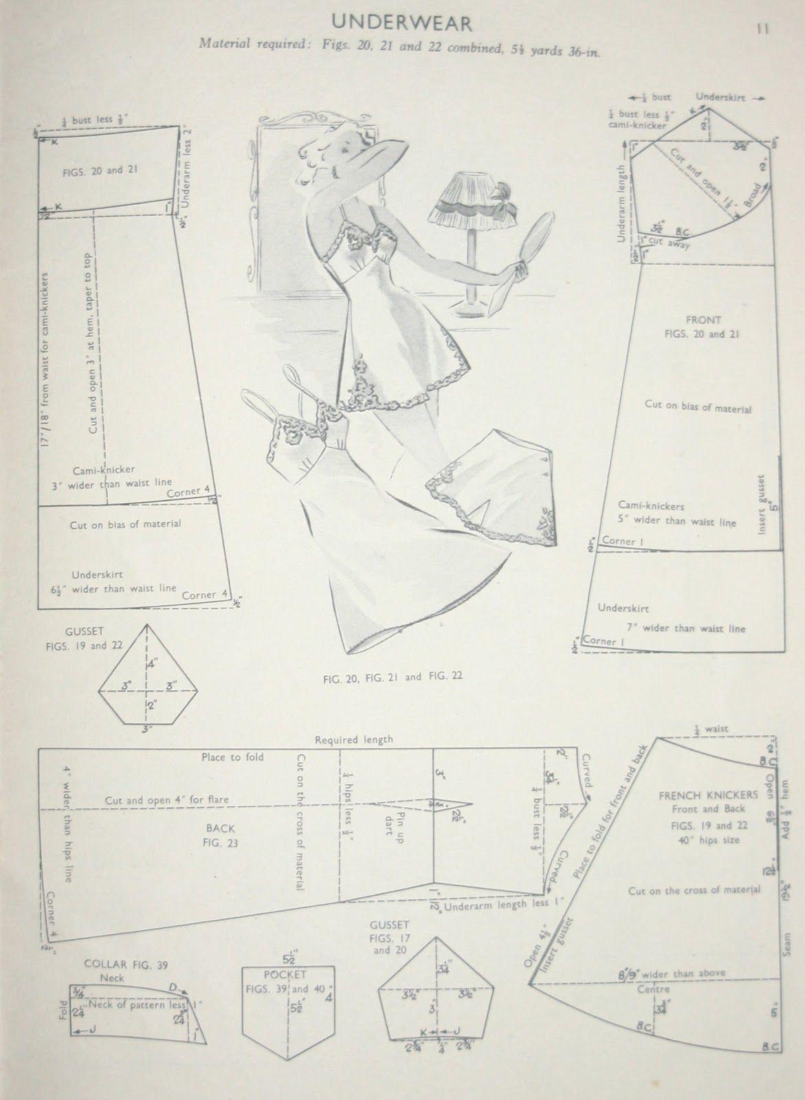 vintage slip pattern | sewing | Pinterest | Costura, Molde y Patrones