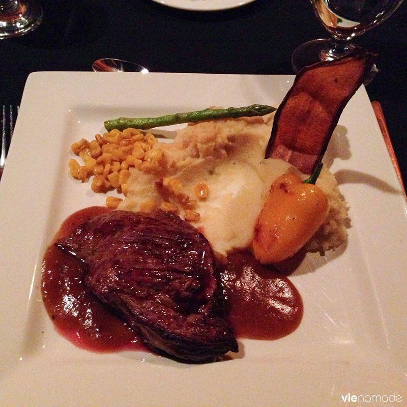 Bavette de bison, miama! Restaurant le Grand Pic, Lac Taureau, Québec
