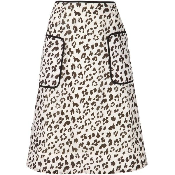 Muveil leopard print skirt ($340) ❤ liked on Polyvore featuring skirts, black, leopard skirt, muveil, leopard print skirt, black skirt and black knee length skirt
