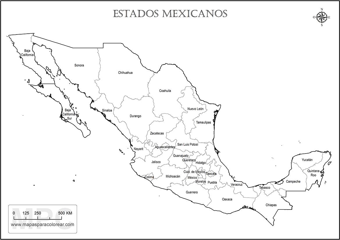 Mapa Mexico Estados Nombres Png 1169 827 Republica Mexicana Con Nombres Mapa Mexico Con Nombres Mapa De Mexico
