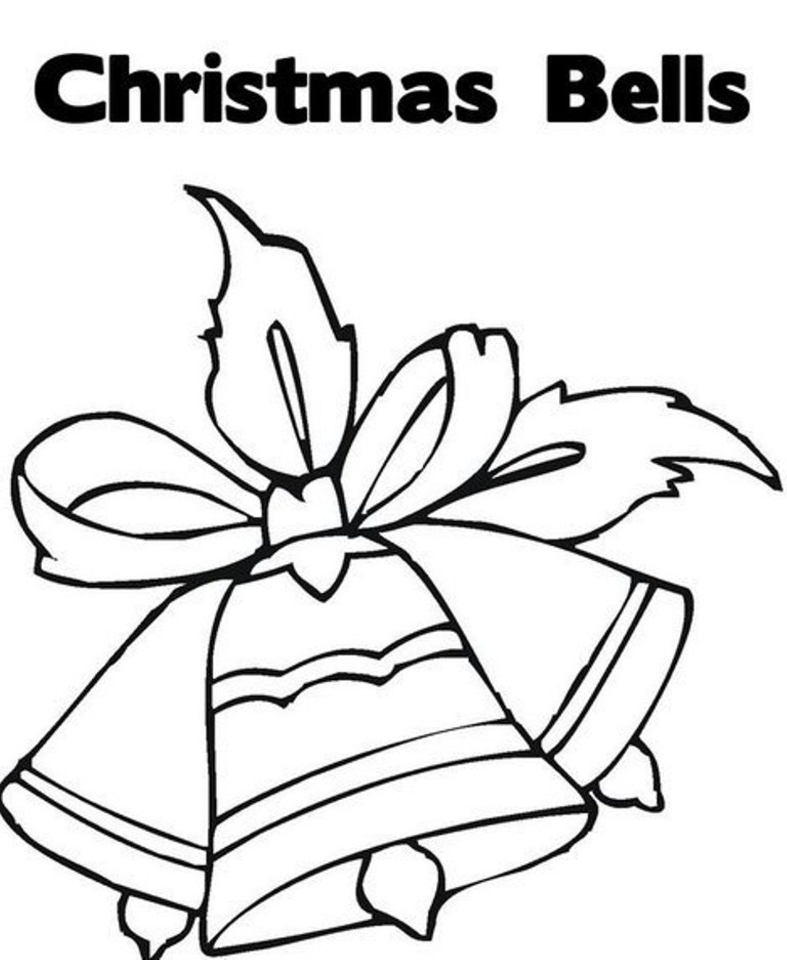Free Coloring Pages Download For Christmas Ornament Bells Of