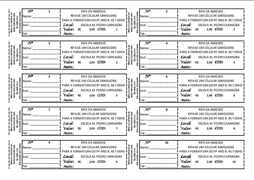 Resultado De Imagem Para Modelo De Rifa Ticket Template Raffle Tickets Template Raffle Ticket Template Free