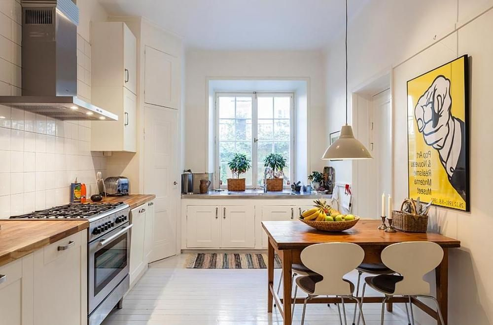interior: scandinavian small kitchen interior design ideas with l