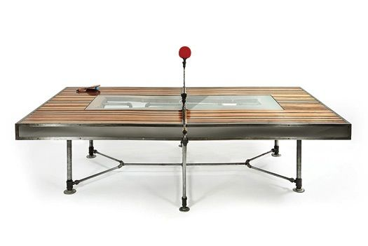 Elegant Ping Pong Table Doubles As A Dining Table Pics Ping