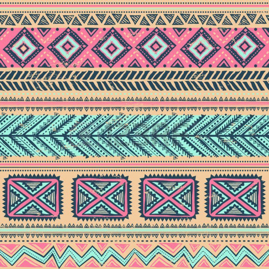 Tribal Iphone Wallpaper: Sin Fisuras étnicas Vendimia Tribal Foto De Archivo