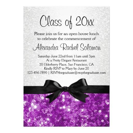 purple  gold formal graduation party invite  graduation parties, invitation samples