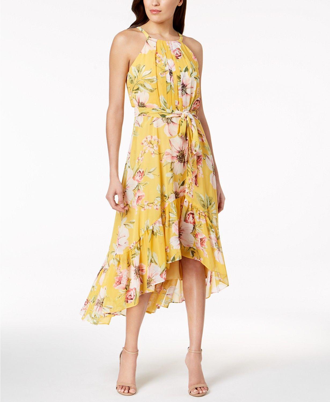 178b860e5a1 Vince Camuto Ruffled High-Low Maxi Dress Women - Dresses - Macy s ...