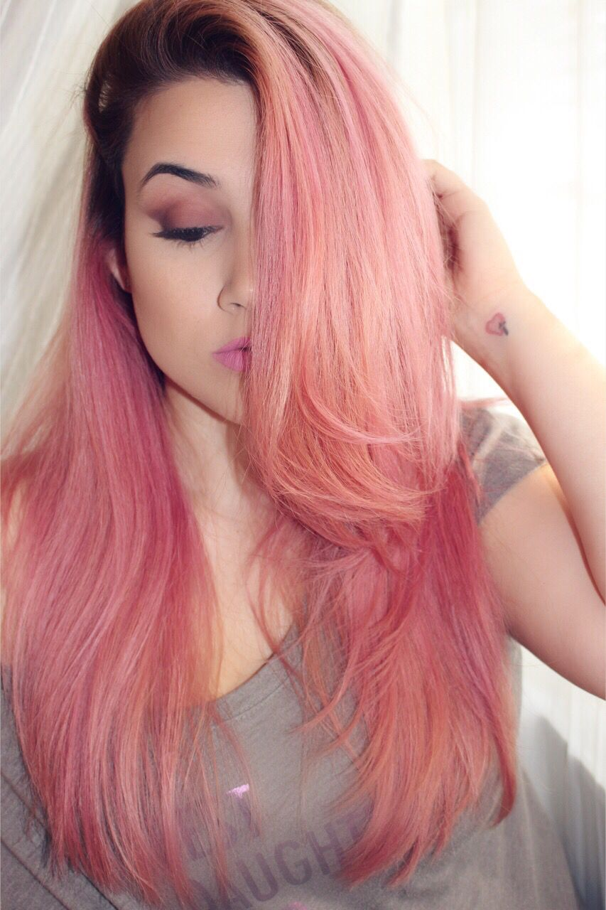 Mauve Pink Hair Ion Demi Permanent Smoky Videotutorial Hairtutorial Pinkhairtutorial